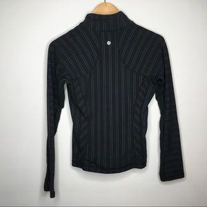 Lululemon Black Striped Zip Up Size 4